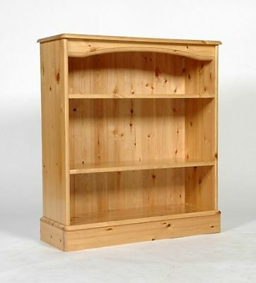 Low Wide Solid Wood Pine Bookcase 2 Shelves Hand Waxed We Can Make Any Size