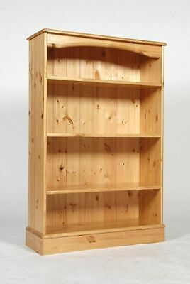 Medium Wide Solid Wood Pine Bookcase 3 Shelves Hand Waxed Can Make Any Size