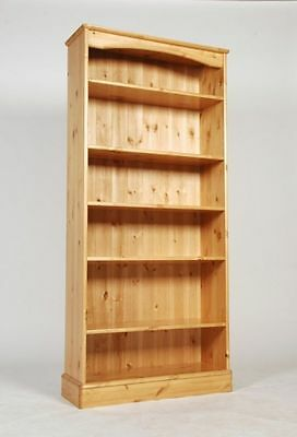 Tall Wide Solid Wood Pine Bookcase 5 Shelves Hand Waxed Can Make Any Size