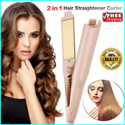 ORIGINAL 2 IN 1 MESTAR IRON PRO - Hair Straightener Curling Iron - US STOCK DR