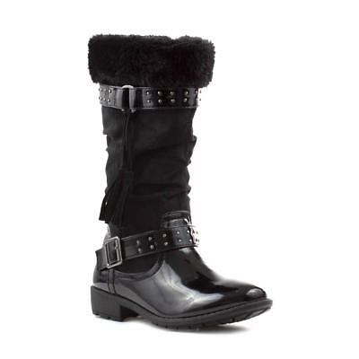 Walkright Girls Black Patent High Leg Boot - Sizes 8,9,10,11,12,13,1,2,3,4