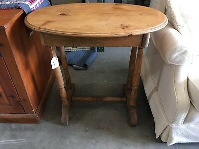 Antique Wood Country Table End Table - Primitive Farm House Cottage Cabin Drawer