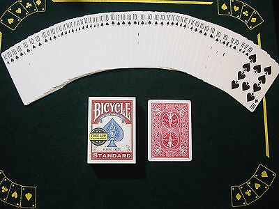 One Way Force Deck - Red Bicycle - 10 Of Spades - 52 Cards All The Same - New