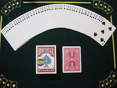 One Way Force Deck - Red Bicycle - 5 Of Spades - 52 Cards All The Same - New