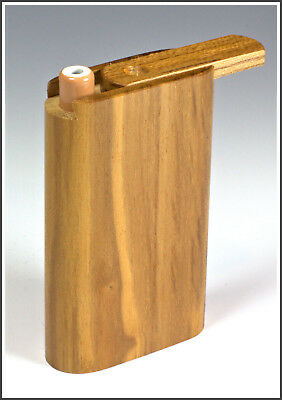 """3"""" Teak Wood Slider Dugout with One Hitter Bat- Perfect Gift"""