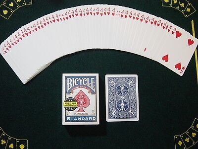 One Way Force Deck - Blue Bicycle - 4 Of Hearts - 52 Cards All The Same - New