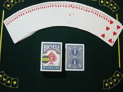 One Way Force Deck - Blue Bicycle - 6 Of Hearts - 52 Cards All The Same - New