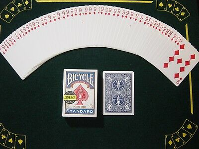 One Way Force Deck - Blue Bicycle - 9 Of Diamonds - 52 Cards All The Same  New