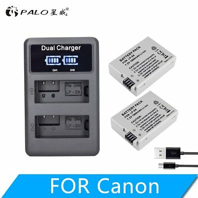LP-E8 Camera Lithium Battery Charger Liquid Crystal Set for EOS 550D  EOS XS