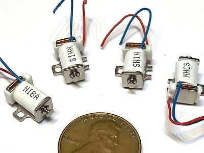 4 Pieces White Linear Suction Electromagnet small Solenoid Pull Micro push A15