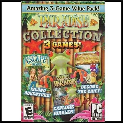 PARADISE COLLECTION 3 PC GAMES  Windows 10 AND BELOW