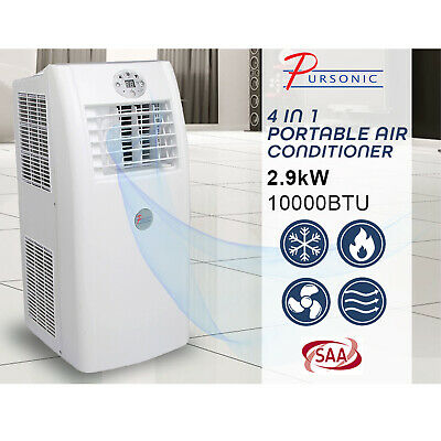 Pursonic Portable Air Conditioner Cooling Heating Aircon Dehumidifier Fan Cooler