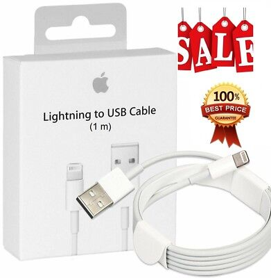 Genuine 1M Apple iPhone 5 6 6S 7 8 plus X 5G iPad Lightning To USB Charger Cable