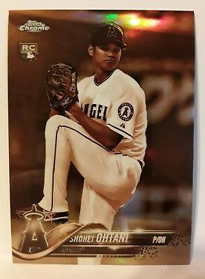 2018 Topps Chrome SHOHEI OHTANI RC SEPIA REFRACTOR SP #150 Angels ROY