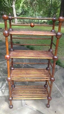 Antique Unusual Stick and Ball Bookcase vintage Victorian ball and stick display