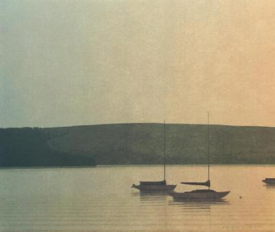 """Russell Chatham Original Signed """"Still Evening at Tomales Bay"""" Lithograph"""