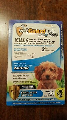 VetGuard Plus Flea & Tick 3 month supply for Small Dogs 5-15 lbs.