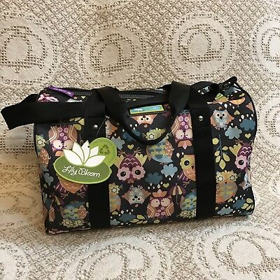 NWT Lily Bloom Tara Overnighter Duffel Bag - What A Hoot Print - MSRP $85.00