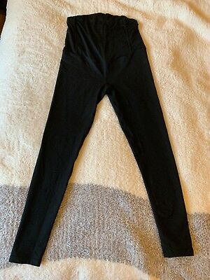 Isabel Maternity Active Leggings Black Size Small Over The Bump