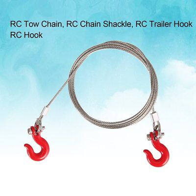 1/10 Metal Trailer Hook Tow Chain Shackle for SCX10 Rock Crawler RC Car Model WK