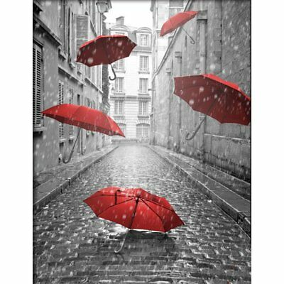 Red Umbrella Painting Handmade Diamond Painting Wall Embroidery Decoration KQ