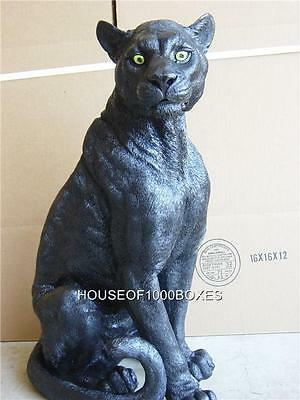 Black Panther Statue Large Indoor/outdoor Puma Ebony House Home Garden Decor