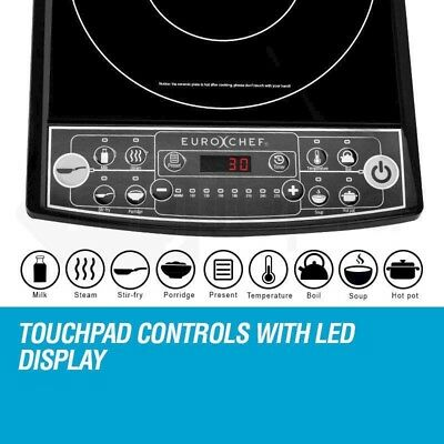 Touch Control Electric Cooker Portable Induction Cooktop Preset Function Timer