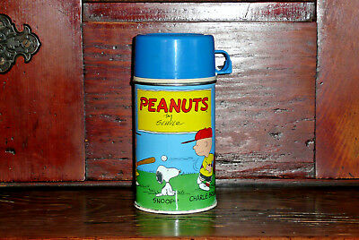 Vintage 1959 Thermos Brand Peanuts Charles Schultz Thermos For Metal Lunchbox