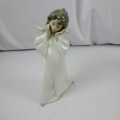 Lladro Angel with Hands to Face model A-12 D