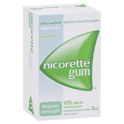Nicorette Chewing Gum - 2Mg - 105 Pieces Regular Strength - Classic Sugar Free
