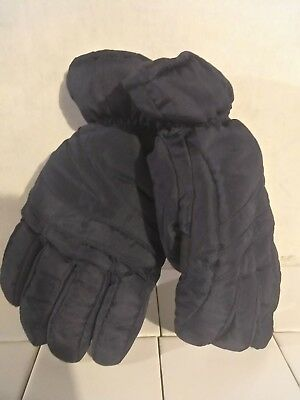 Polar Mens L/XL 3M Thinsulate 40 Gram Ski Gloves Cold water Proof leather Grip