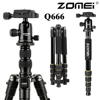ZOMEI Q666 Portable Professional Tripod&Ball Head Travel for Canon DSLR Camera T