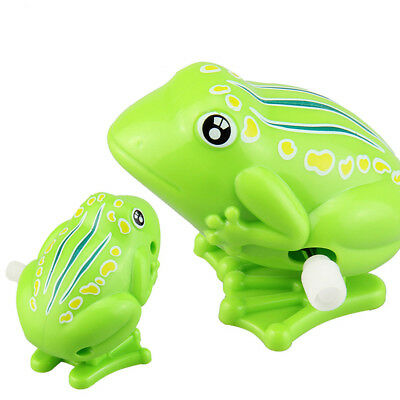 Cute Plastic Jumping Frog Clockwork Toy Wind Up Toy For Children Kids Gift