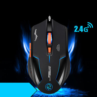X70 7 LED Backlit Rechargeable 2.4GHz Wireless USB Optical Gaming Mouse Mice