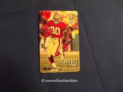 1998 Jerry Rice HOF 7 Eleven San Francisco 49er's Phone Card #6 of 12 Sprint