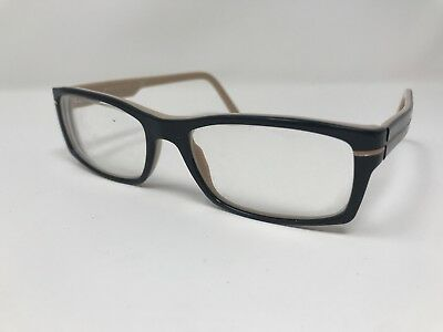 14480dd6d3e6 Burberry Eyeglass Frame Italy RAP5096AA RC007 Black Peach Brown 52-17-140mm  PU00