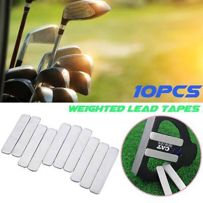 10PCS Lead Tape to Add Swing Weight for Golf Club Tennis Racket Iron Putter BLD