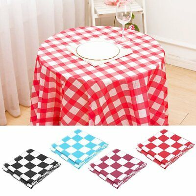 Disposable Plaid Tablecloth Rectangular Table Cover for Home Parties PicniAE
