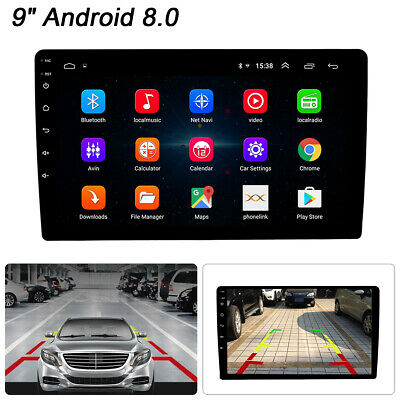 "9"" Android 8.0 2Din In-Dash Car GPS Navigation Wifi Stereo Radio Player"