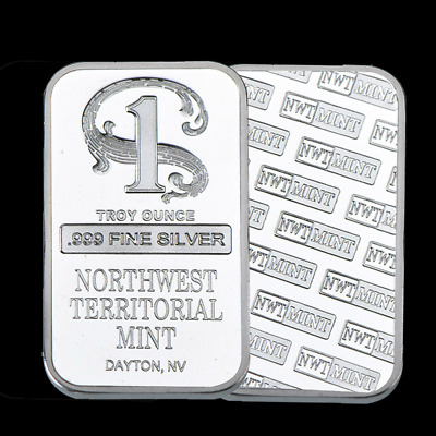 1 oz Northwest Territorial Mint Silver Bar .999 Fine