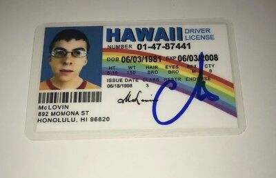 Christopher Mintz-Plasse Signed Superbad Mclovin Id Role Models Kick Ass Proof
