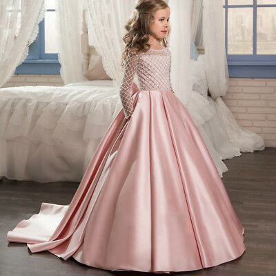 Clothing, Shoes & Accessories Wedding Party Flower Dress Girl Holy Communion Party Promprincess Pageant Dress