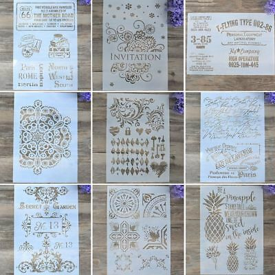 Layering Stencils For Wall Painting DIY Craft Scrapbooking Stamping Album Decor~