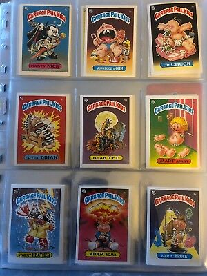 1985 UK Garbage Pail Kids 1st Series Full Set Inc Variations Irish Pack Fresh