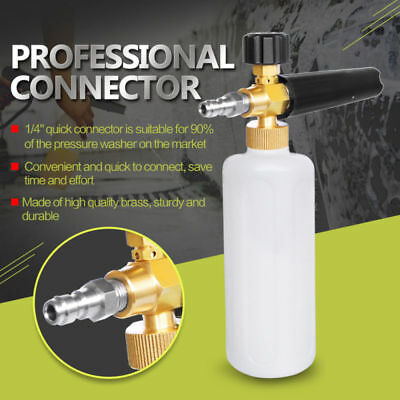 Car Pressure Washer Snow Foam Lance 1L Cannon With 1/4' Quick Connect Adapter UK