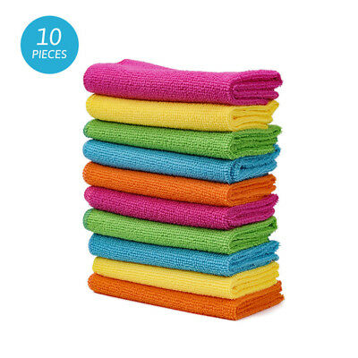 10pcs/Pack Soft Micro Fiber Wash Cloth Car Kitchen Duster Cleaning Towel Cotton