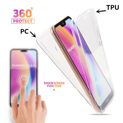 360° Full Cover Soft Front + PC Back Case For Huawei Mate 20 P20 Y9 Y7 Y6 2018