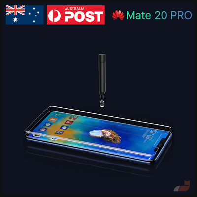 UV Light Liquid Glue Tempered Glass Curved for Huawei Mate 20 Pro