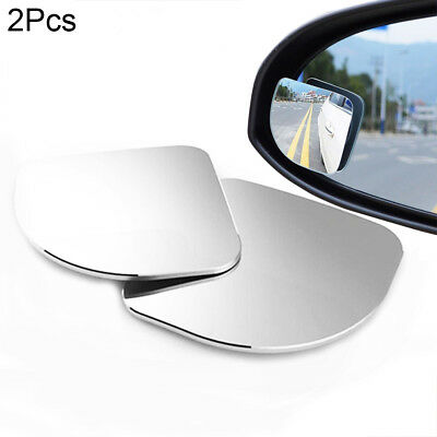 2pcs HD Glass Convex Car Motorcycle Blind Spot Mirror for Parking Rear View~