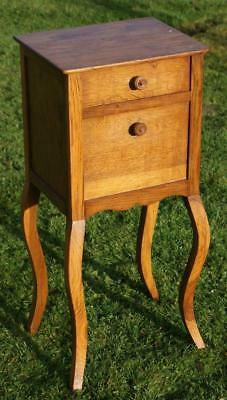 A FINE EARLY 20th CENTURY FRENCH OAK LOUIS XV STYLE  BEDSIDE CABINET